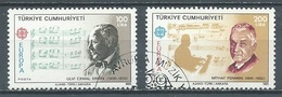Turquie YT N°2462/2463 Europa 1985 Année Européenne De La Musique Oblitéré ° - Europa-CEPT
