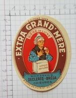 ETIQUETTE  BRASSERIE DECLERCQ - BREDA CHIEVRES EXTRA GRAND MERE - Beer