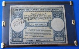 ROYAUME DU MAROC / MOROCCO   0.80 DIRHAM International Reply Coupon Réponse  Antwortschein IAS IRC  MEKNES - Morocco (1956-...)