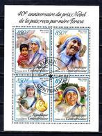 Célébrités Mère Teresa Centrafrique 2019 (12) Série Complète Yvert N° 6089 à 6092 Oblitérés Used - Mother Teresa