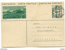 "57 - 77 - Entier Postal Avec Illustration ""Arosa"" Superbe Cachet à Date  Biberist 1933 - Postwaardestukken"