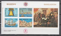 Bangladesh 1976,5V In Block,IMP, Us Independence Bicentenary Declaration Ship Liberty,MNH/Postfris(L3493) - Us Independence