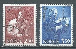 Norvège YT N°880/881 Europa 1985 Année Européenne De La Musique Oblitéré ° - Europa-CEPT