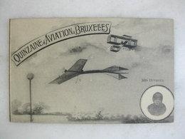 AVIATION - Quinzaine D'aviation à BRUXELLES - Mlle Dutrieux - Fliegertreffen