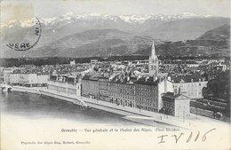 38 Grenoble - Vue Générale Et La Chaîne Des Alpes 190x TB - Grenoble