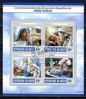 Célébrités Mère Teresa Niger 2017 (17) Série Complète Yvert N° 4135 à 4138 Oblitérés Used - Mother Teresa
