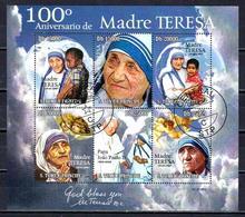 Célébrités Mère Teresa Saint Thomas Et Prince 2010 (18) Série Complète Yvert N° 3578 à 3583 Oblitérés Used - Mother Teresa