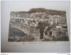Algérie- CONSTANTINE Panorama Pris De La Route De SETIF  ( Voyagée 1937) - Constantine