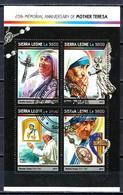 Célébrités Mère Teresa Sierra Leone 2017 (20) Série Complète Yvert N° 6693 à 6696 Oblitérés Used - Mother Teresa