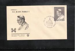 Argentina 1979 Pope John Paul I FDC - Papes