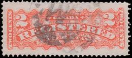 Scott F1   2c Orange Registered Mail. Used. - Recomendados