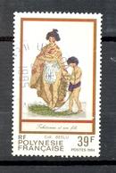Timbre Oblitéré - OCEANIE - Polynésie Française - Tahicienne Et Son Fils - Polynésie Française