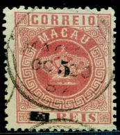 1885 Royal Crown,Definitives,Macao,Macau,Mi.22 A,surcharged,perf.12.5,VFU - Macau