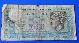 ITALIA  - BILLET - 500 Lires  - E. EVANGELLI - ITALIE - -  1946-République ITALIENNE RépubliqueBiglietto Di Statoo - [ 2] 1946-… Republik
