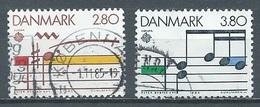 Danemark YT N°839/840 Europa 1985 Année Européenne De La Musique Oblitéré ° - Europa-CEPT