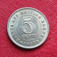 Malaya British Borneo 5 Cents 1957  KN - Coins