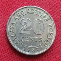 Malaya British Borneo 20 Cents 1957  H - Coins