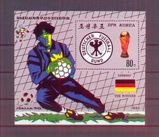 North Korea/DPR Korea 1990 - FIFA Football World Cup Italia 90 - Minisheet - MNH** Excellent Quality - Corée Du Nord