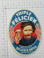 ETIQUETTE  BRASSERIE DECLERCQ - BREDA CHIEVRES TRIPLE FELICIEN - Beer