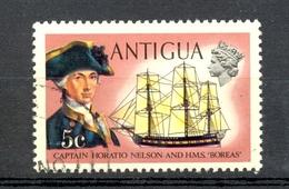 Timbre Oblitéré - ANTIGUA - Captain Horatio Nelson And H.M.S. Boreas - Antigua Et Barbuda (1981-...)