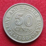 Malaya British Borneo 50 Cents 1958  H - Coins