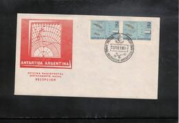 Argentina 1965 Argentinian Antarctica  Deception Island Radio Station Interesting Cover - Forschungsstationen