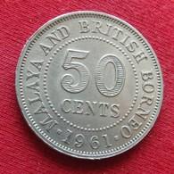 Malaya British Borneo 50 Cents 1961  H - Coins