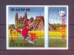 North Korea/DPR Korea 1986 - FIFA Football World Cup Mexico 86 - Minisheet - MNH** Excellent Quality - Corée Du Nord