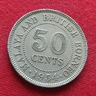 Malaya & British Borneo 50 Cents 1954  Malaia Malaysia Malasia Malaisie Malaysie  #2 Wºº - Malaysia