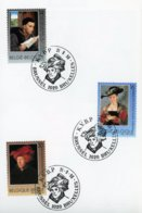 2655/57 - Oeuvres D'art Belge Sur Feuillet Cachet De Prévente (voir Scan & Descr) - Postmark Collection