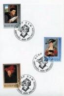 2655/57 - Oeuvres D'art Belge Sur Feuillet Cachet De Prévente (voir Scan & Descr) - Hojas