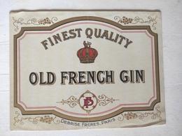 Magnifique étiquette Ancienne - Old French Gin - Debrise Frères - Vernis - Other