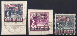 DUTCH INDIES/INDONESIA 1945 Interim Period. Jawa. The Complete Set Ovptd. At Bandung, VF Used - Indes Néerlandaises