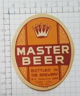 ETIQUETTE  BRASSERIE DEHAVAY GOSSELIES MASTER BEER - Beer