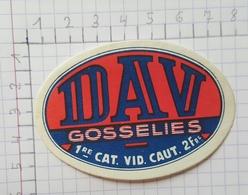 ETIQUETTE  BRASSERIE DEHAVAY GOSSELIES DAV -1 - Beer
