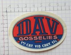 ETIQUETTE  BRASSERIE DEHAVAY GOSSELIES DAV -2 - Beer