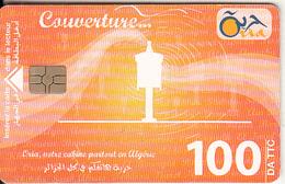 ALGERIA - Couverture..., Oria Telecard 100 DA TTC, Chip GEM3.3, Used - Argelia