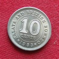 Malaya & British Borneo 10 Cents 1953 Malaia Malaysia Malasia Malaisie Malaysie Wºº - Malaysia
