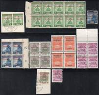 DUTCH INDIES/INDONESIA 1945 Interim Period. Jawa. Several Values Of The Jap. Occup. Set Ovptd. At Bandung. Mint And Used - Indes Néerlandaises