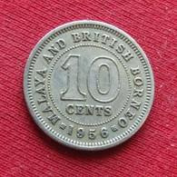 Malaya & British Borneo 10 Cents 1956 Malaia Malaysia Malasia Malaisie Malaysie Wºº - Malaysia