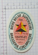 ETIQUETTE  BRASSERIE DELBRUYERE CHATELET BIERE BELGE SUPERIEURE - Beer