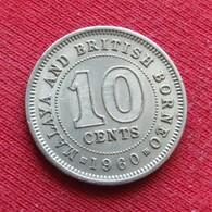 Malaya & British Borneo 10 Cents 1960 Malaia Malaysia Malasia Malaisie Malaysie Wºº - Malaysia