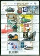 NEDERLAND * NVPH V.3219 -28 * SPOORWEGEN  * BLOK BLOC * BLOCK *  POSTFRIS GESTEMPELD - 2013-... (Willem-Alexander)