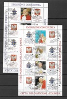 2004 USED Vaticano Mi 1474-81 Kleinbogen - Blocs & Feuillets