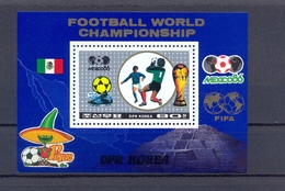 North Korea/DPR Korea 1986 - FIFA Football World Cup Mexico 86 - S/Sheet - MNH** Excellent Quality - Corée Du Nord