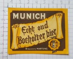 ETIQUETTE  BRASSERIE BROUWERIJ MARTENS BOCHOLT MUNICH - Beer