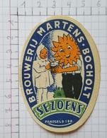 ETIQUETTE  BRASSERIE BROUWERIJ MARTENS BOCHOLT SEZOENS - Beer