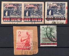 DUTCH INDIES/INDONESIA 1945 Interim Period. Jawa. Some Values Of The Ned.Indie Ovptd. At Jakarta, VF Used - Indes Néerlandaises