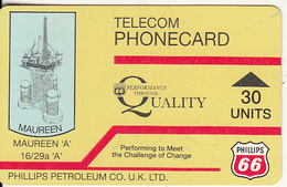"SCOTLAND(Autelca) - Maureen A""/Phillips Petroleum Co., IPL(Scotland) Telecard 30 Units(blue Logo On Reverse), Used - Phonecards"