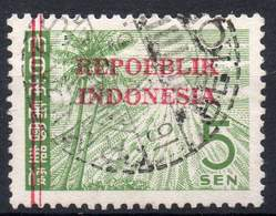 DUTCH INDIES/INDONESIA 1945 Interim Period. Jawa. The 5 Sen Of Jap.Occup. Ovptd. At Bandung, VF Used - Indes Néerlandaises